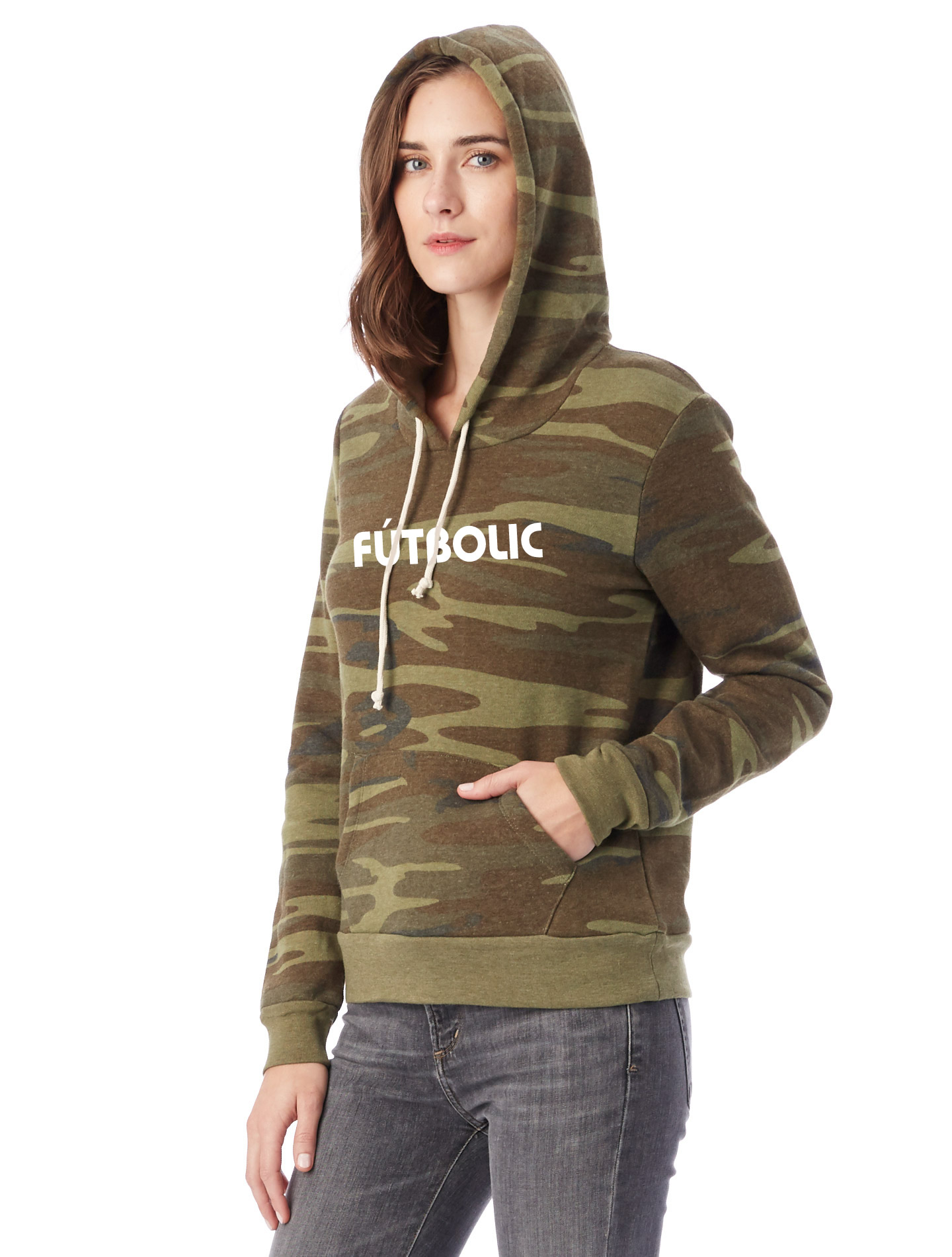 Athletics Eco-Fleece Hoodie Eco Camouflage Green2