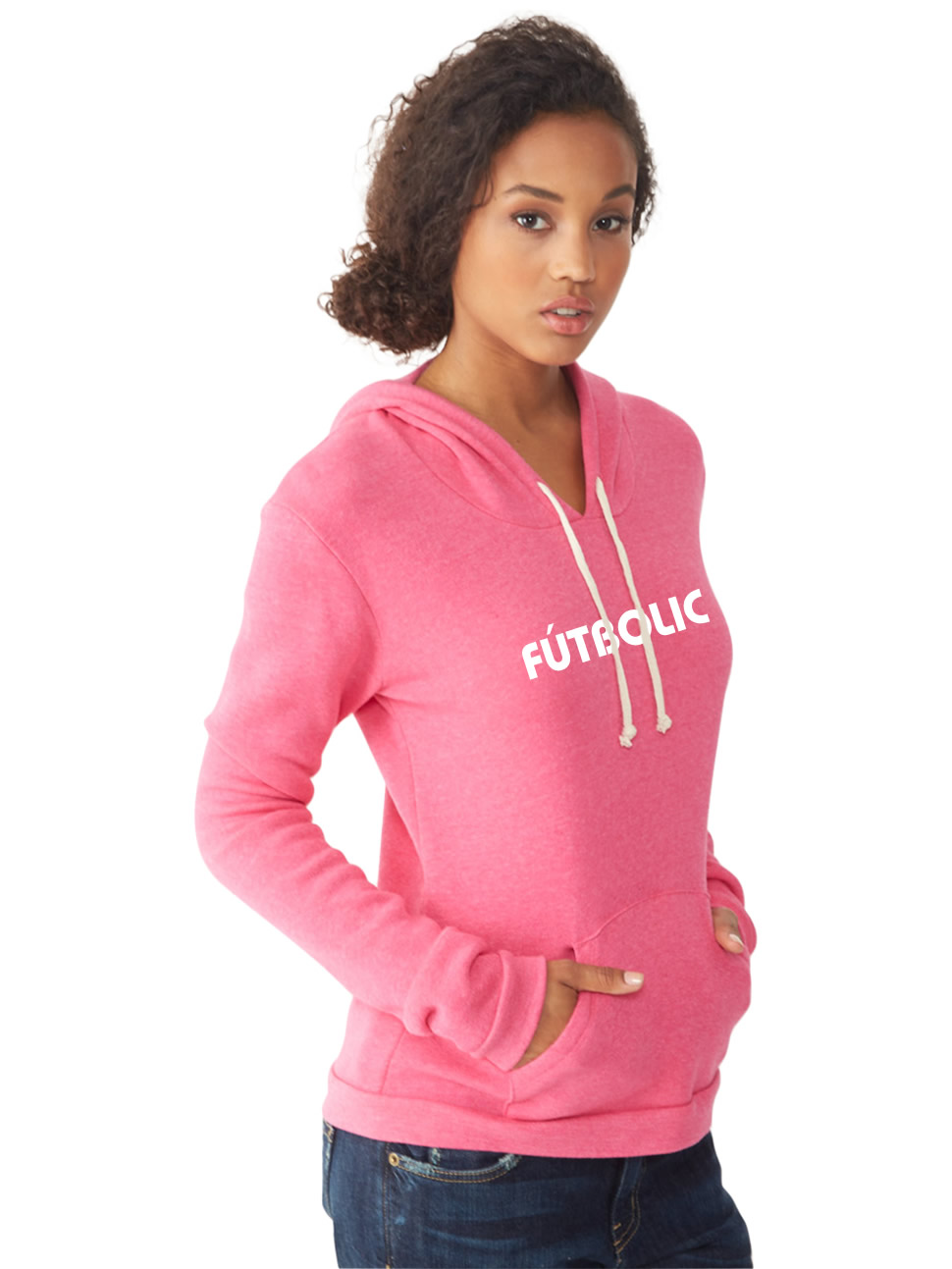 Athletics Eco-Fleece Hoodie Eco True Azalea2