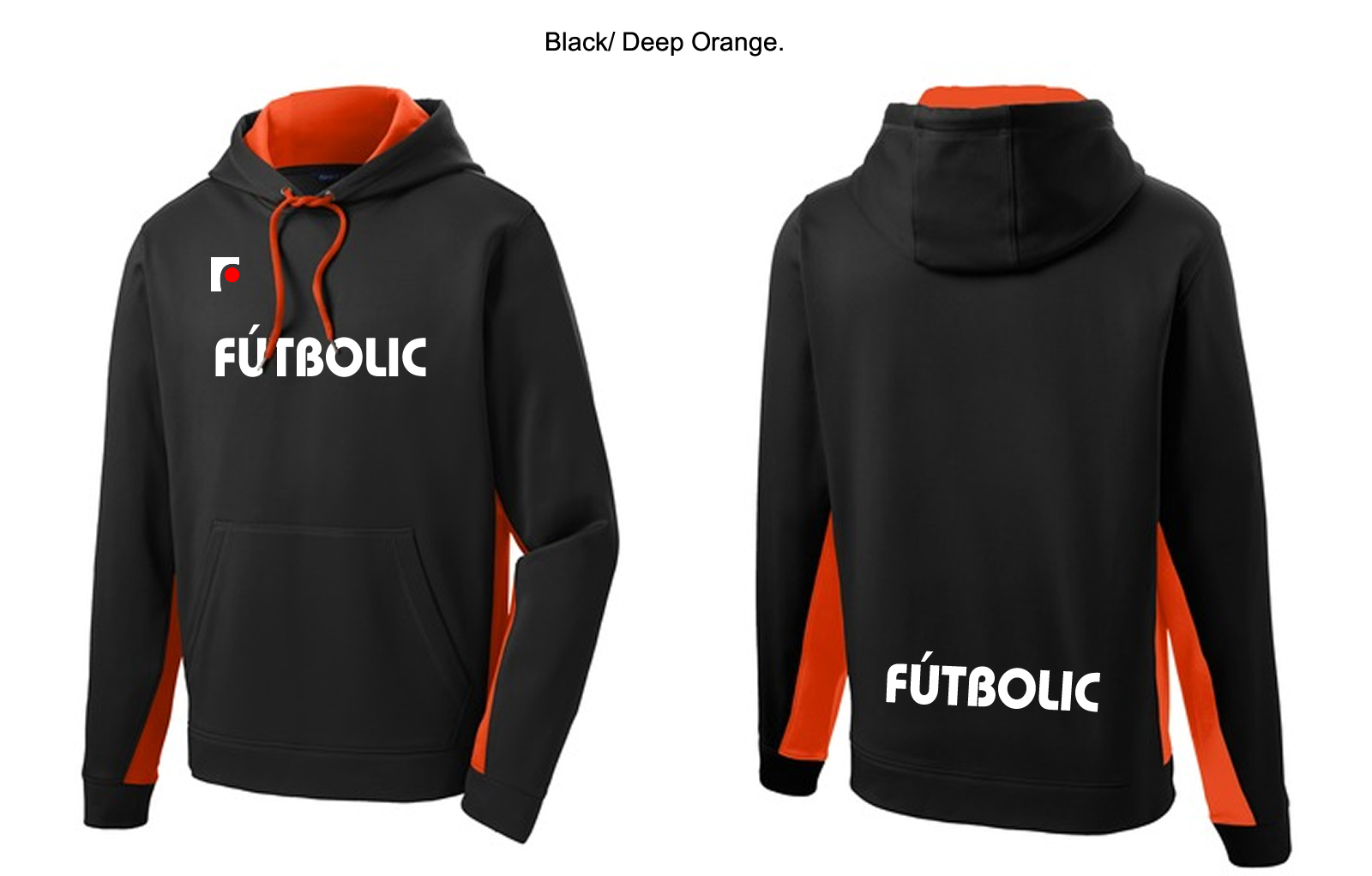 Softshell Colorblock Hooded Pullover Orange.