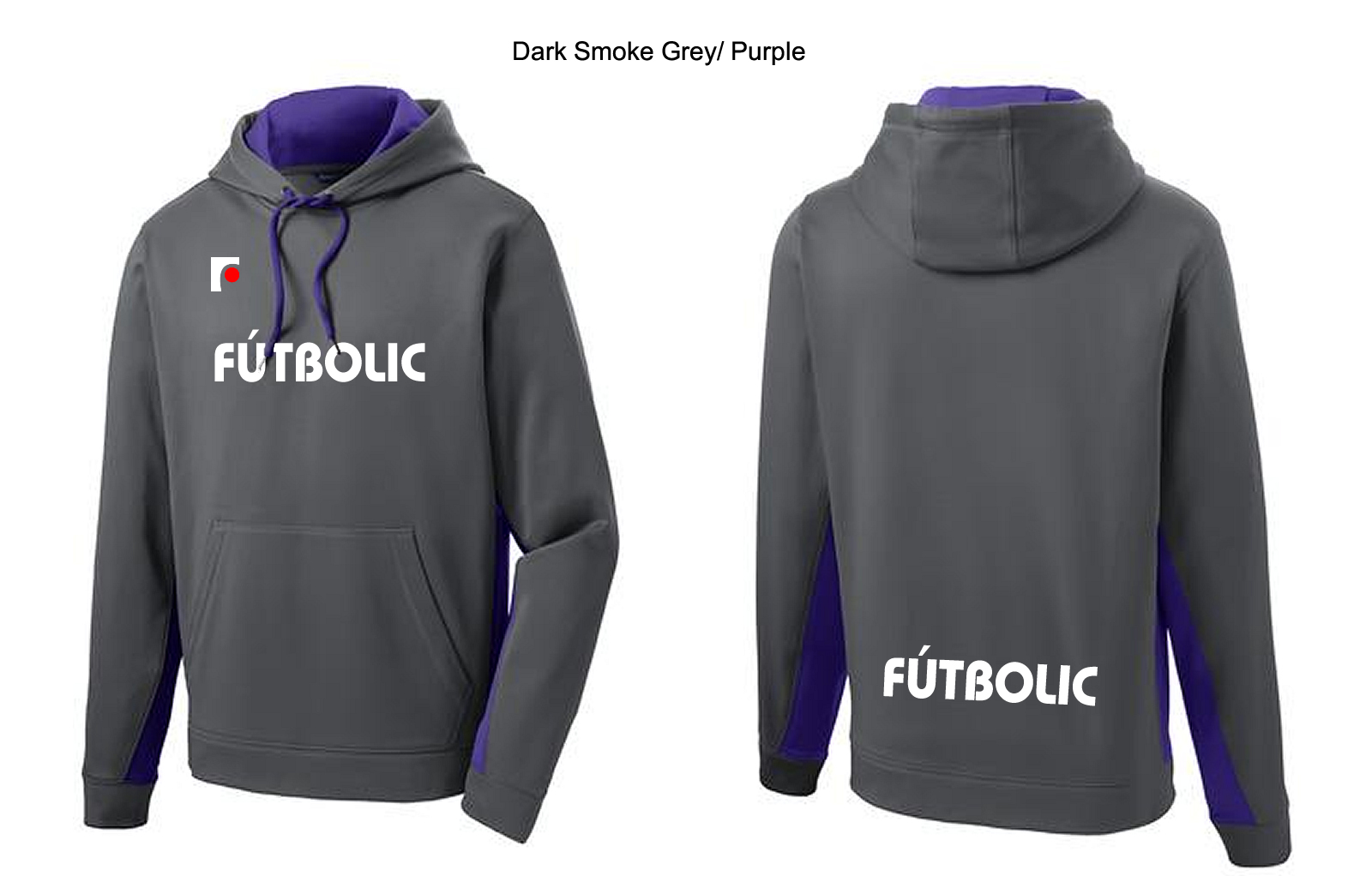 Softshell Colorblock Hooded Pullover Purple