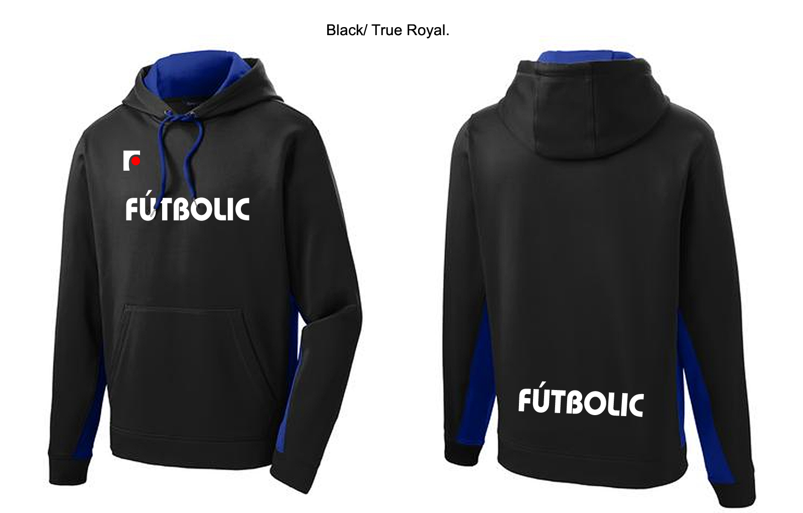 Softshell Colorblock Hooded Pullover True Royal