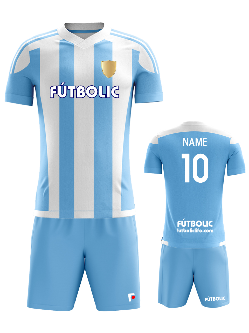 Team stripe Light Blue