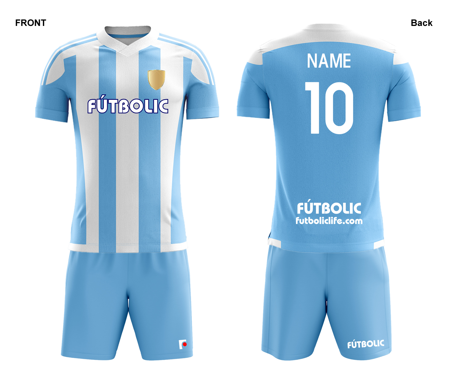 Team stripe Light Blue2